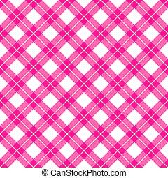 pink gingham seamless pattern