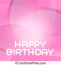 Vector Pink Happy Birthday Card