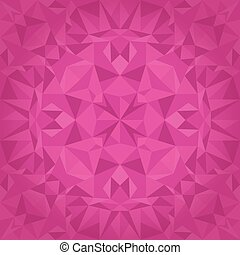 Vector Pink Magenta Crystal Triangles Texture Seamless Pattern. Festive and Glowing Repeat Surface Design. Great for Valentine's Day.