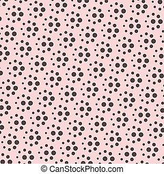 vector pink polka dot pattern background