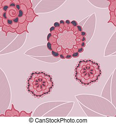 Vector pink seamless pattern