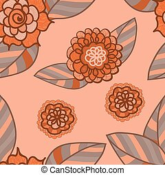 Vector pink seamless pattern.
