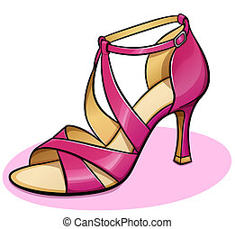 Vector pink woman shoe design