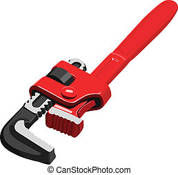 pipe wrench  - Vector pipe wrench
