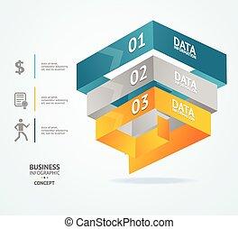 vector, piramide, tabel, voor, infographics, ontwerp
