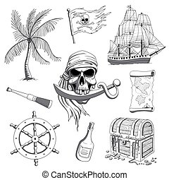 Vector Pirate Design Elements