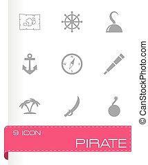 Vector pirate icon set