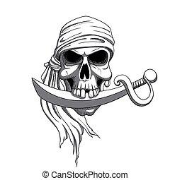 Vector Pirate Skull