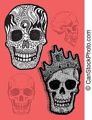 Vector Pirate Skull Set