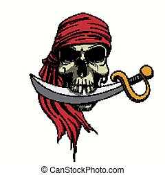 Vector Pirate Skull