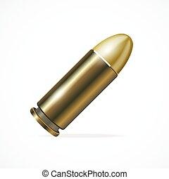 Vector Pistol Bullet - Vector illustration Pistol Bullet...