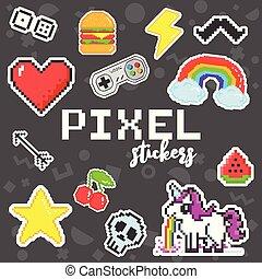 Dithering pixels background  old retro video game pixel art