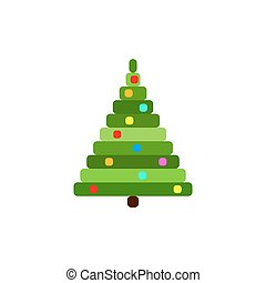 Vector Pixel Christmas tree.