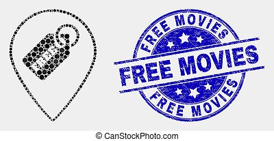 Vector Pixel Free Tag Marker Icon and Scratched Free Movies ...