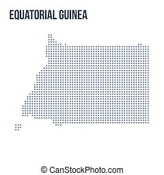 Vector pixel map of Equatorial Guinea isolated on white background