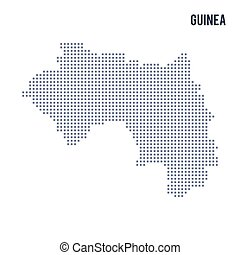 Vector pixel map of Guinea isolated on white background