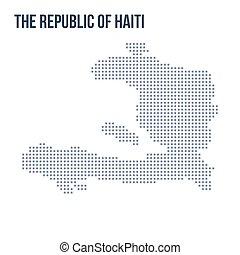 Vector pixel map of The Republic of Haiti isolated on white background