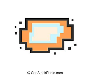 Vector pixel speech bubble. Message box with space for text.