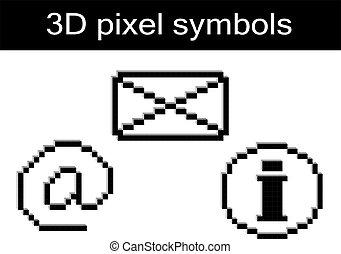 Vector pixel symbols