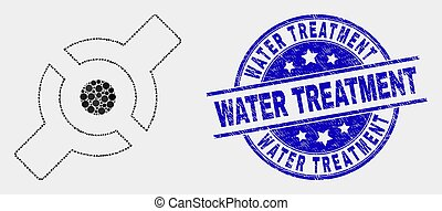 Vector Pixelated Artificial Joint Icon and Distress Water ...