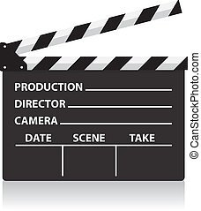 vector, pizarra, director película, pizarra
