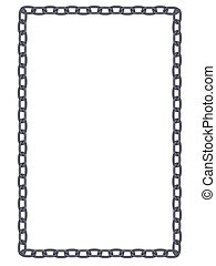 plain and simple metal chain frame isolated - vector plain...