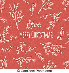 vector., plakat, jul, retro, merry, eller, card