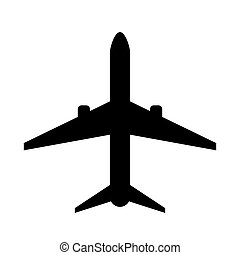 Vector plane icon.