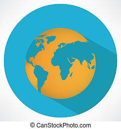 Vector Planet Earth Icon
