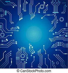 vector, plank, abstract, circuit, technologie, achtergrond.