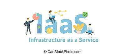 vector, plano, concepto, service., gente, aislado, icons.,...