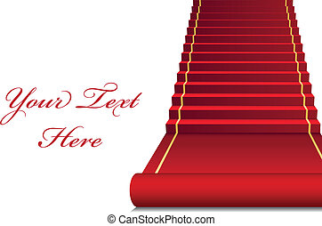 vector, plano de fondo, con, alfombra roja