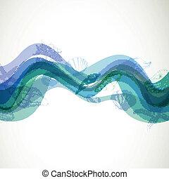 vector, plano de fondo, con, conchas marinas