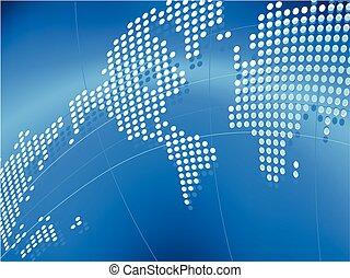 vector, plano de fondo, con, mapa, de, el mundo