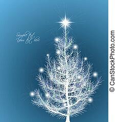 vector, plano de fondo, navidad, fir-tree.
