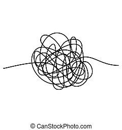 vector, plano de fondo, resumen, aislado, thread., blanco, ...