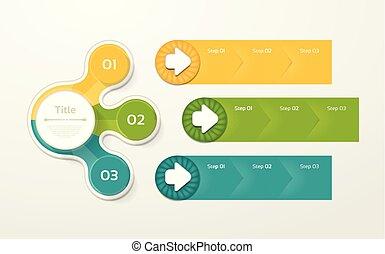 vector, plantilla, infographic, diagrama, gráfico, ...