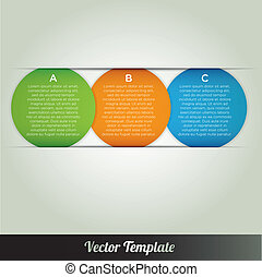 vector, plantilla, infographics