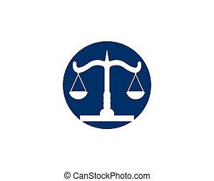vector, plantilla, ley, logotipo, justicia, firma