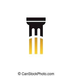 vector, plantilla, logotipo, diseño, pilar, icono