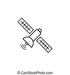 vector, plantilla, satélite, diseño, aislado, icono
