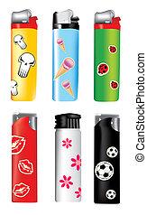 vector plastic lighters