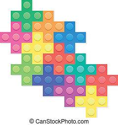 vector plastic puzzle blocks