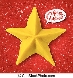 Vector plasticine figure of Christmas star