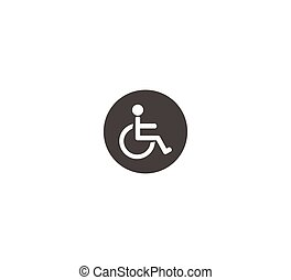 Vector plate for disabled toilet. disabled lounge
