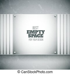 Vector plate with empty space