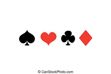 Vector Playing Card Suit Icons