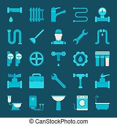 Vector plumbing icons