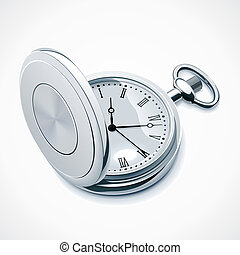 Vector pocket watch - Detailed vector icon representing ...