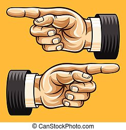 Vector pointing hand illustration